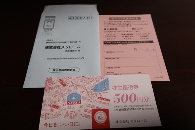 スクロール 株主優待 8005
