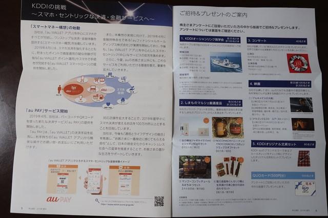 KDDI 株主優待 応募