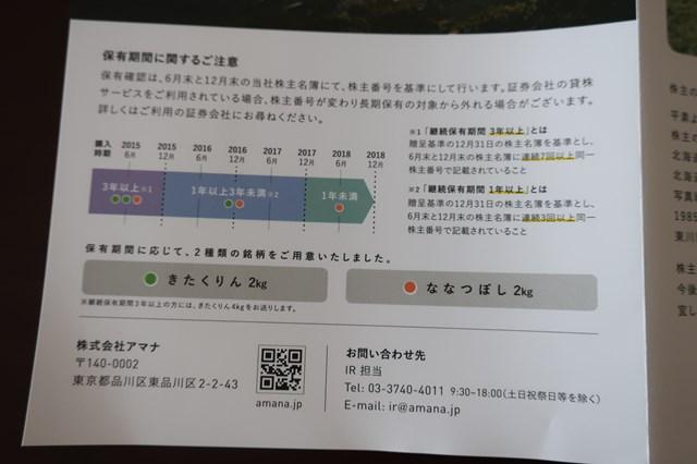 アマナ 株主優待 2402