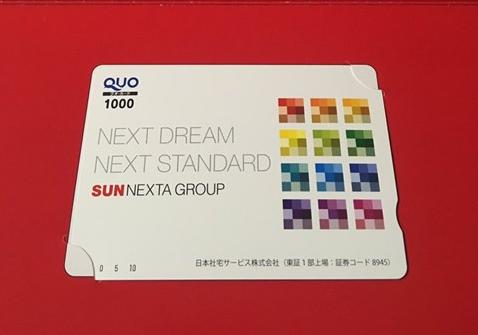 日本住宅サービス(8945) 記念優待 株主優待 クオカード