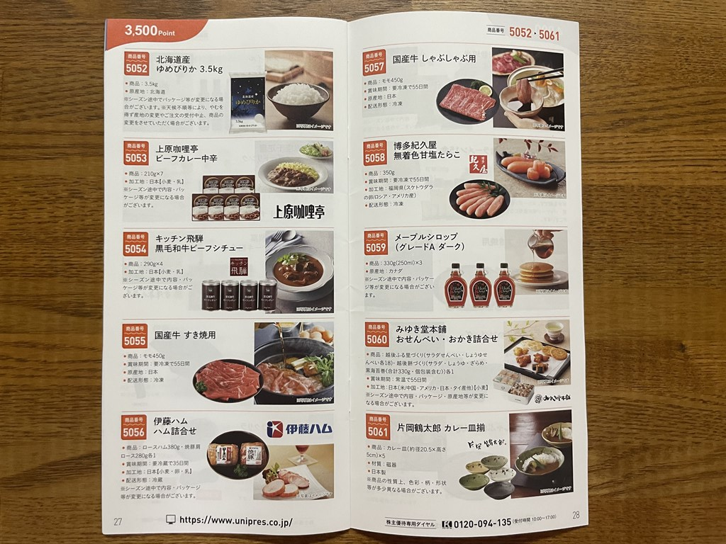 ユニプレス 株主優待到着 クオカード デジタルチケット カタログギフト 5949 いつ届く 優待廃止